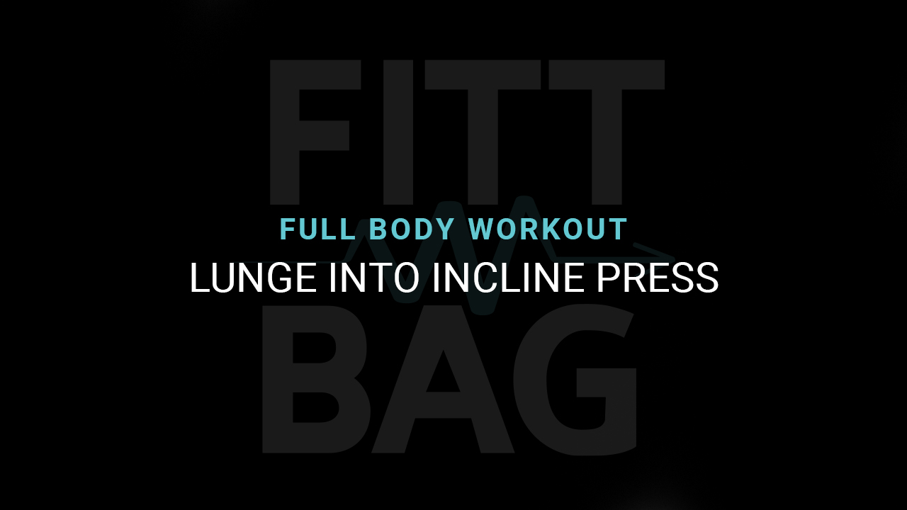 Lunge Into Incline Press